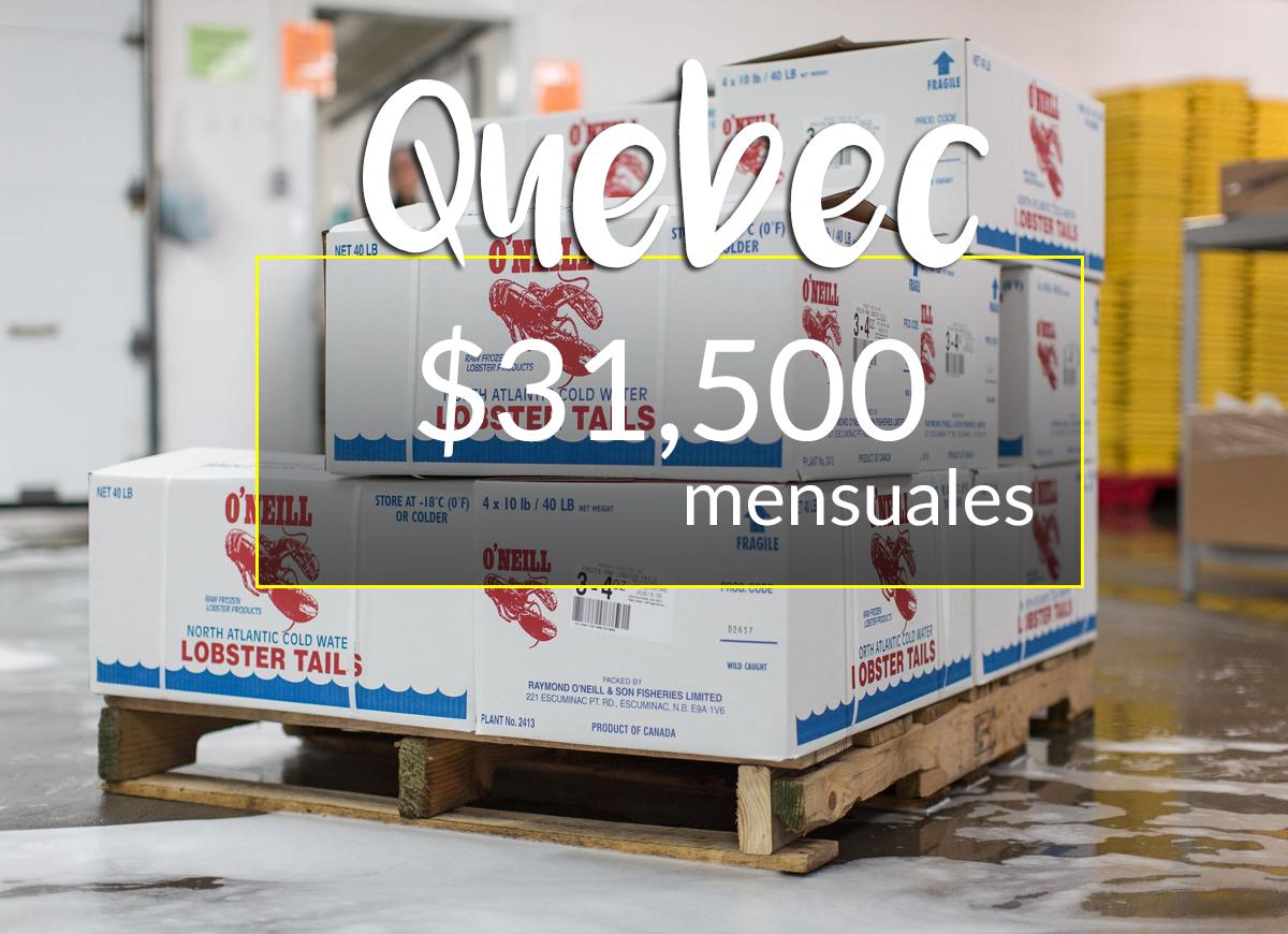 Procesador de langosta y procesamiento de pescado en Québec